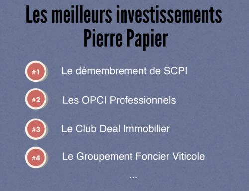 Les meilleurs investissements Pierre Papier en 2019